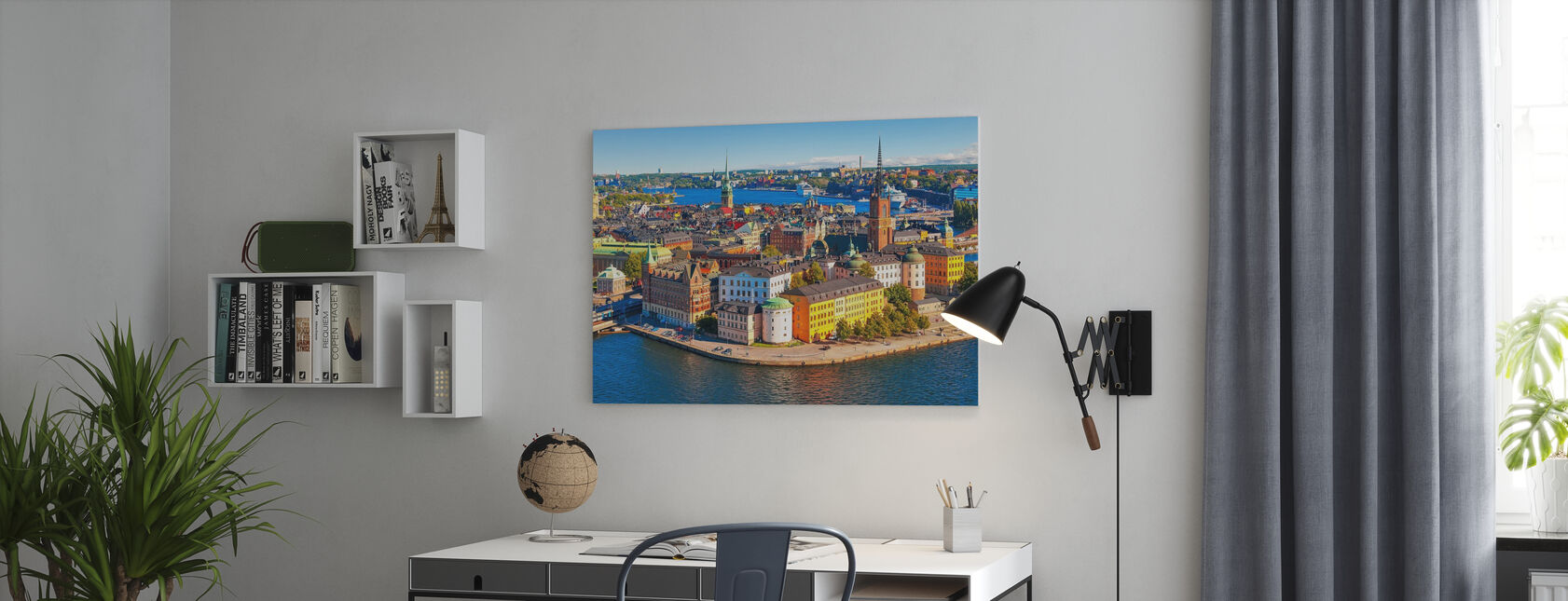 Panorama of the Old Town in Stockholm - Canvas print - Office