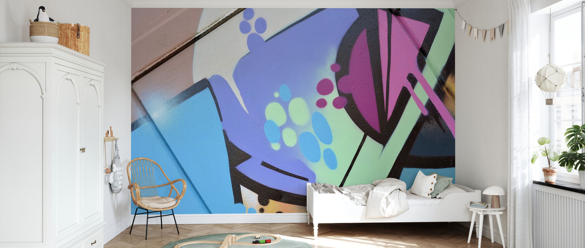 Pastel Graffiti - Wallpaper - Kids Room