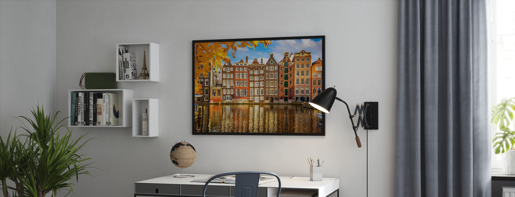 Reflection of Amsterdam - Framed print - Office
