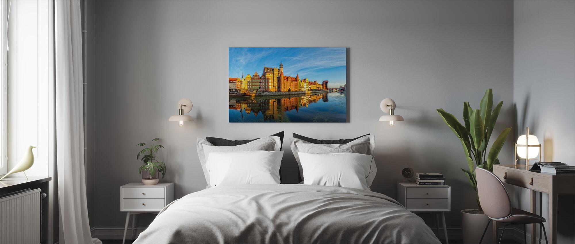 Riverside of Gdansk - Canvas print - Bedroom