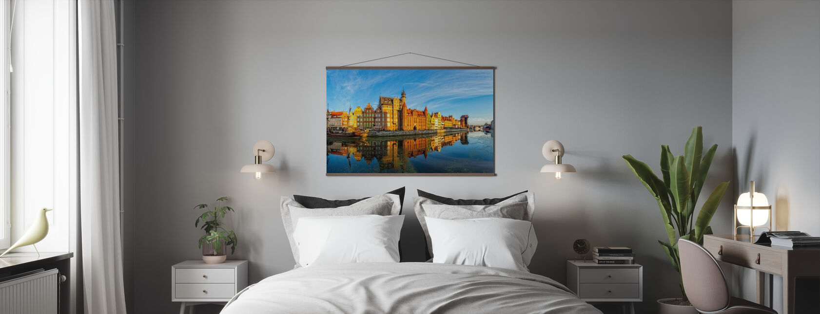 Riverside of Gdansk - Poster - Bedroom