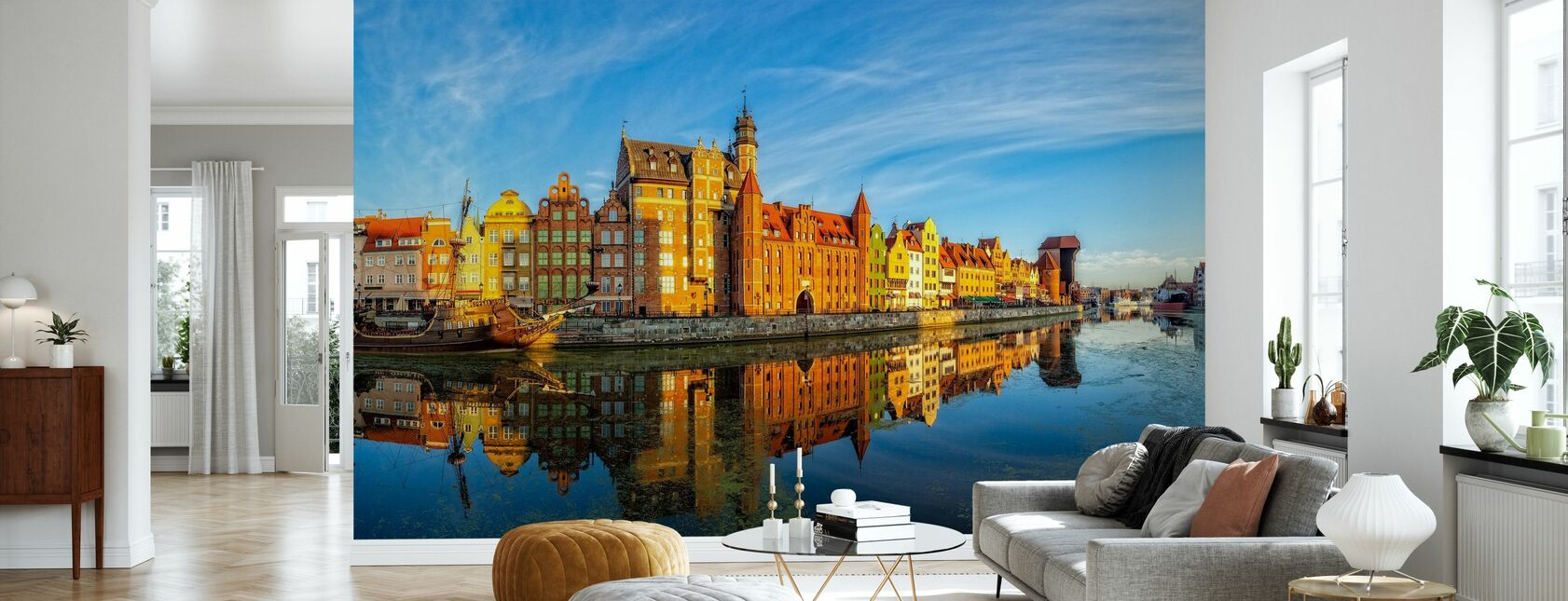 Riverside of Gdansk - Wallpaper - Living Room