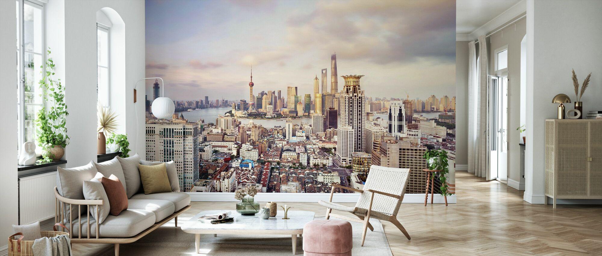 Shanghai Skyline - Tapet - Vardagsrum
