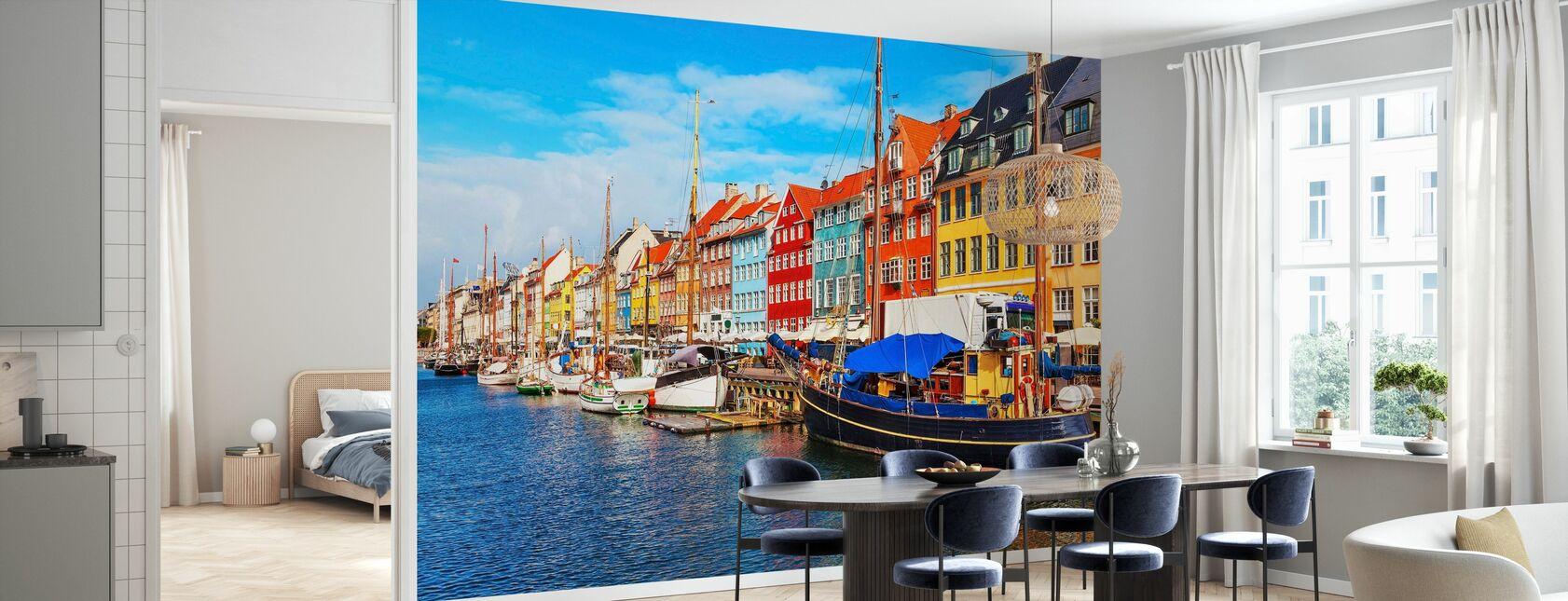 Sommar Vy över Nyhavn Pier - Tapet - Kök