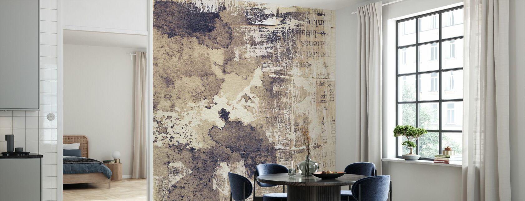 Gescheurde inkt Textuur - Behang - Keuken