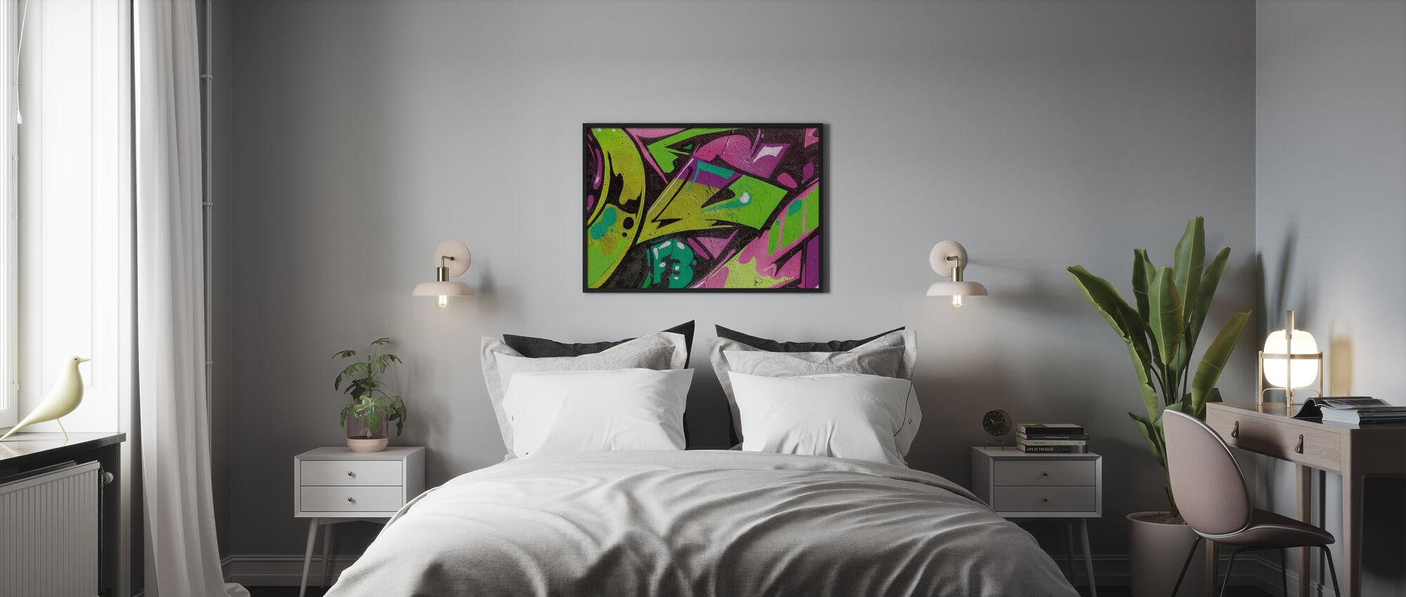Stedelijk Graffiti Detail - Ingelijste print - Slaapkamer