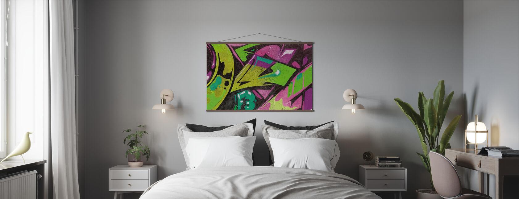 Urban Graffiti Detalj - Poster - Sovrum