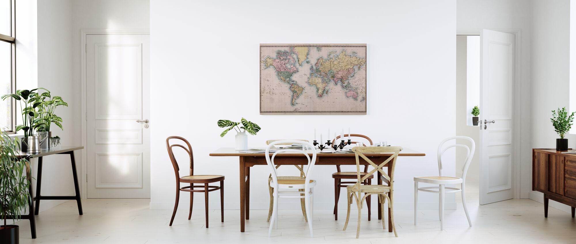 1860 Käsin Väritetty Kartta - Canvastaulu - Keittiö