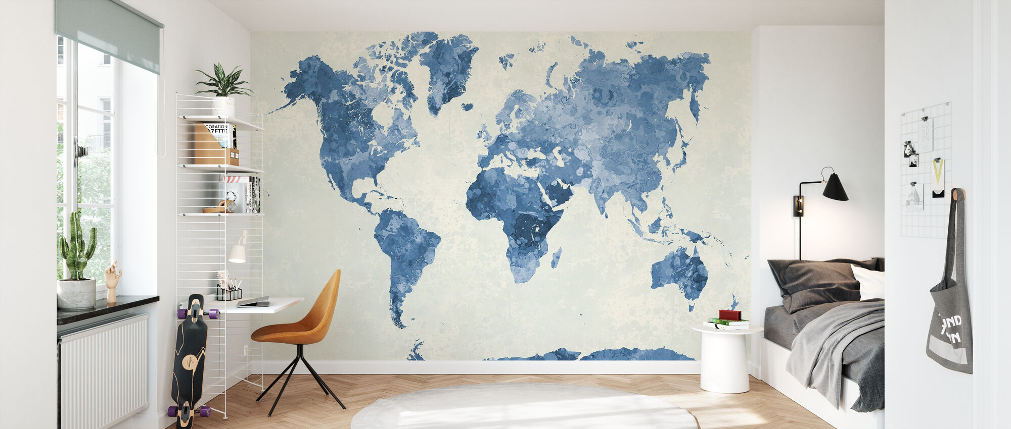 Blue World in Watercolor - Wallpaper - Kids Room