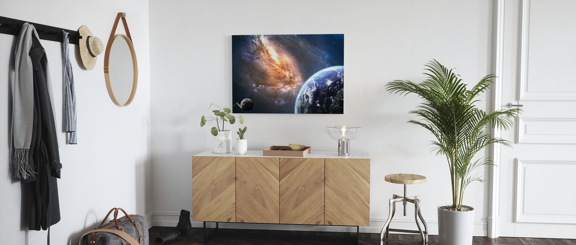 Aarde in de ruimte - Canvas print - Gang