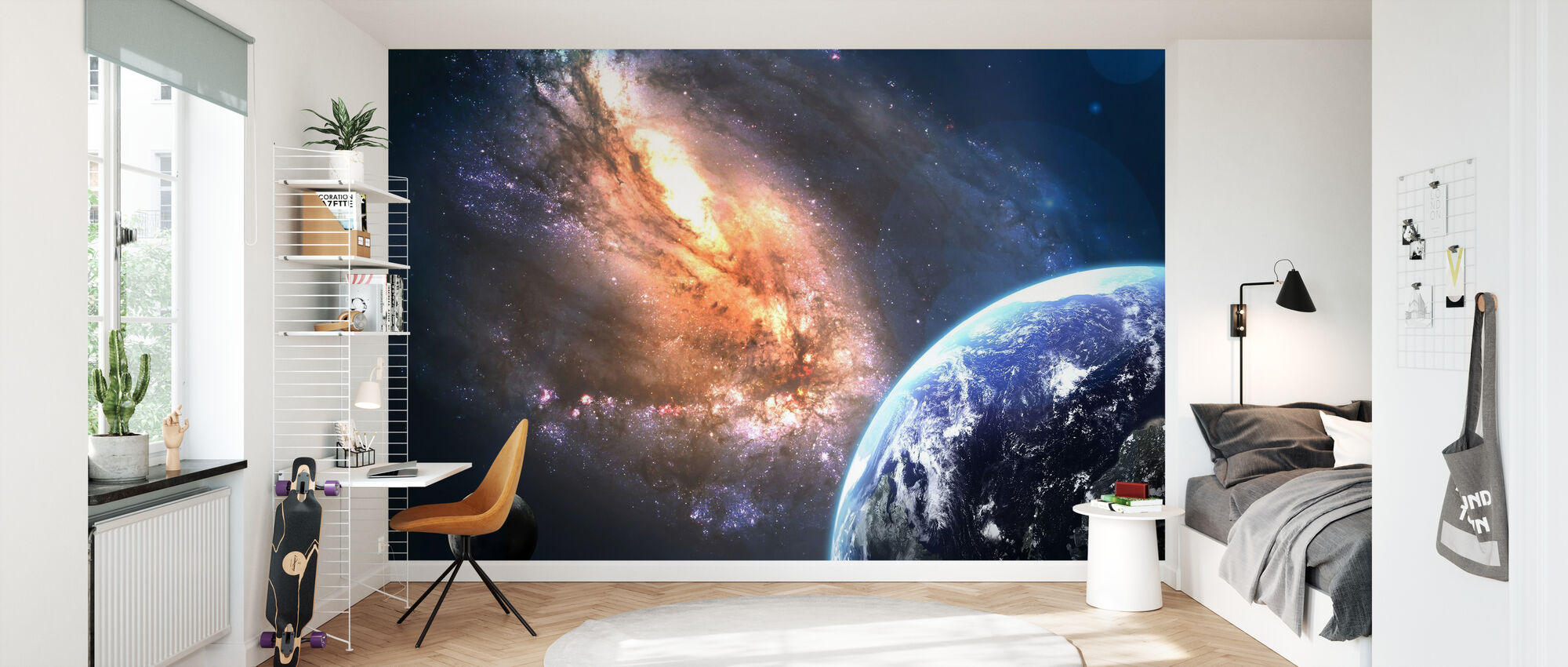 Earth in Space - Wallpaper - Kids Room