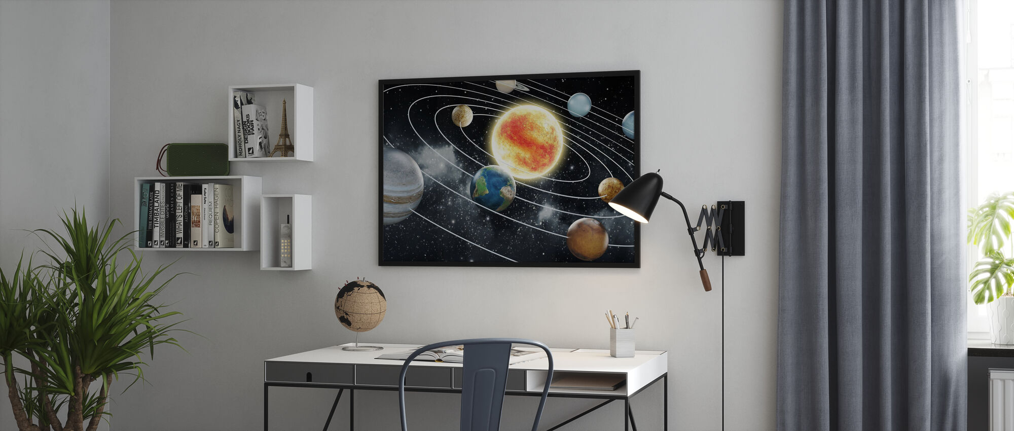 Eight Planets - Framed print - Office