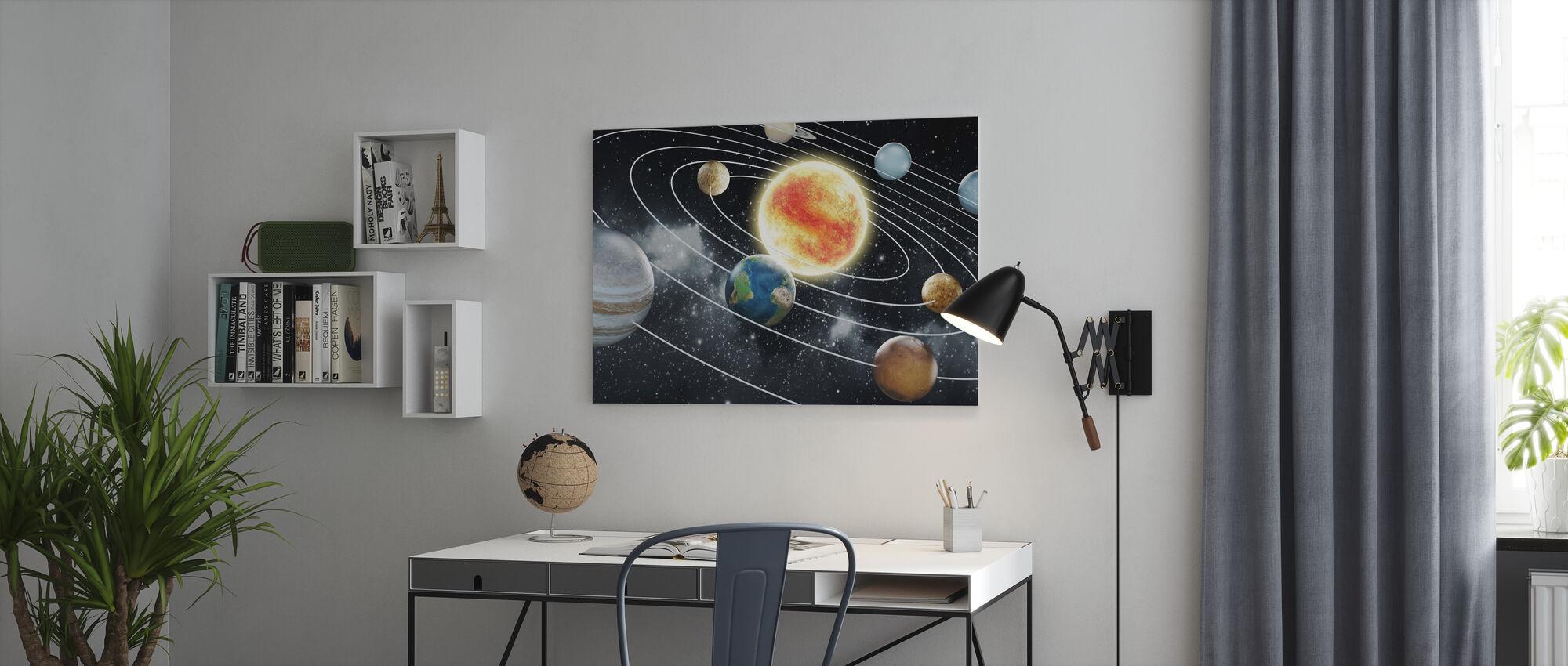 Acht Planeten - Leinwandbild - Büro