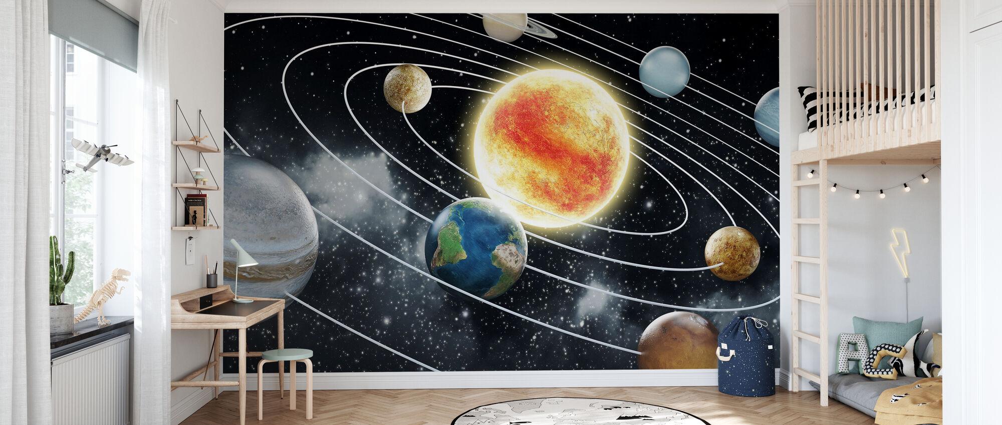Otto pianeti - Carta da parati - Camera dei bambini