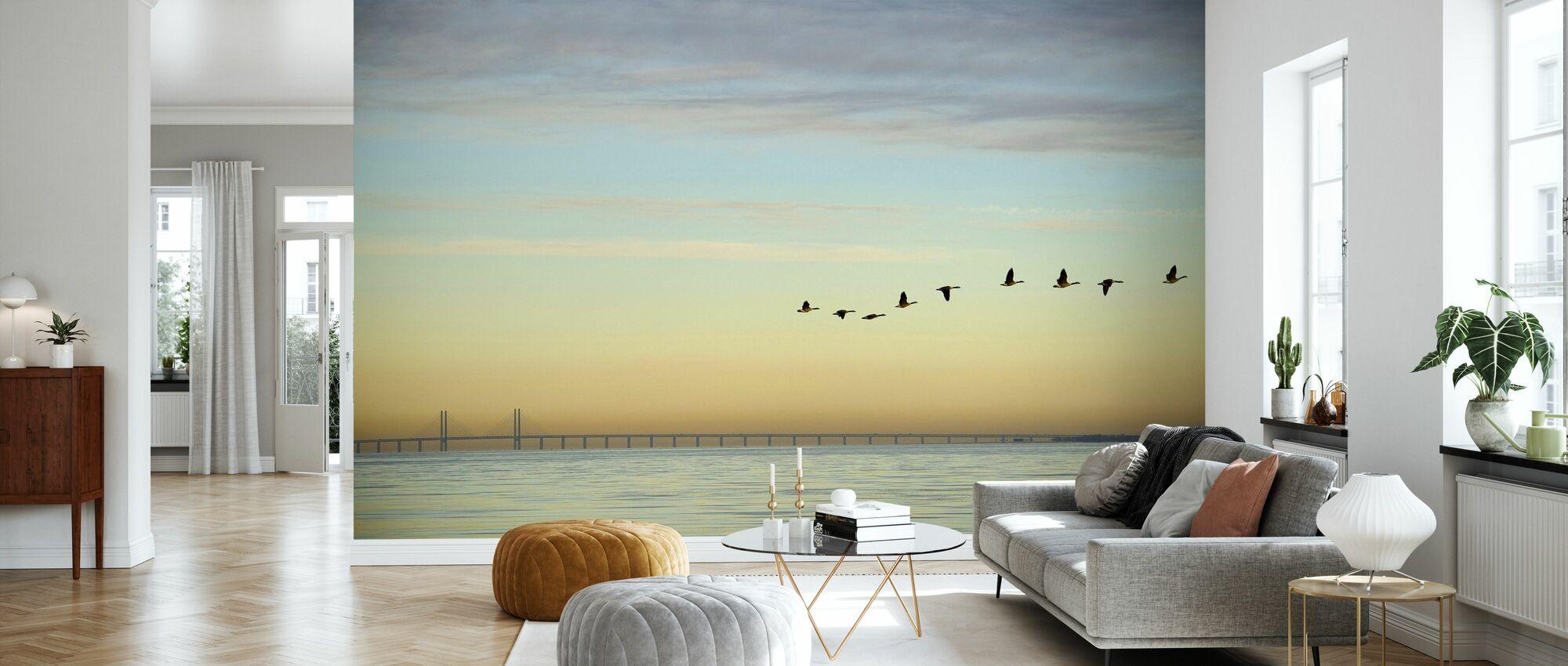 Flock of Birds - Wallpaper - Living Room