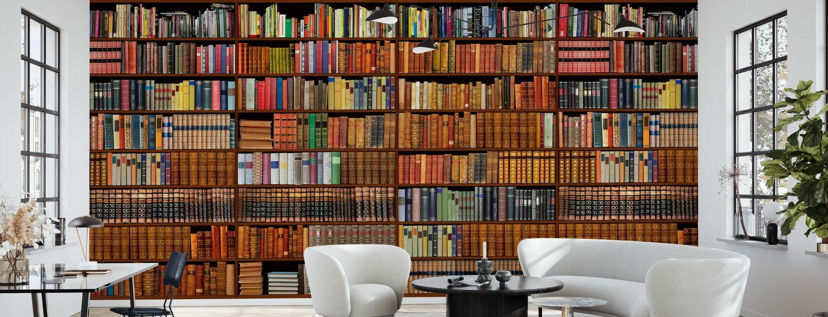 Bookshelf - Wallpaper - Living Room