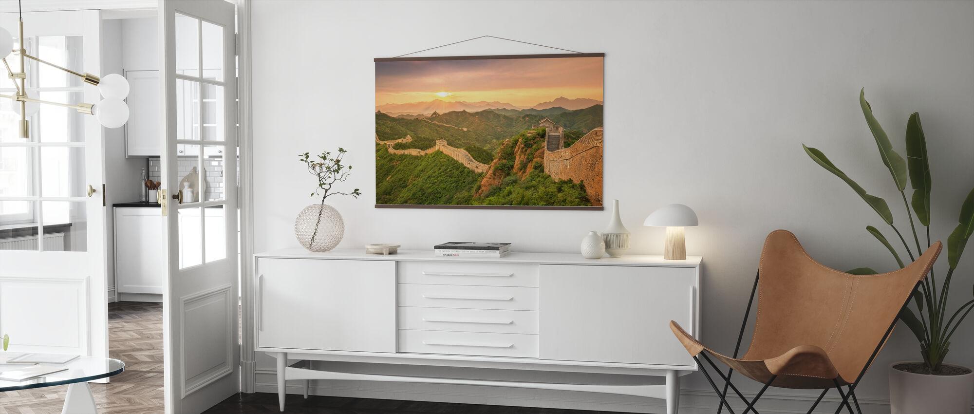 Kinas stora mur vid soluppgången - Poster - Vardagsrum