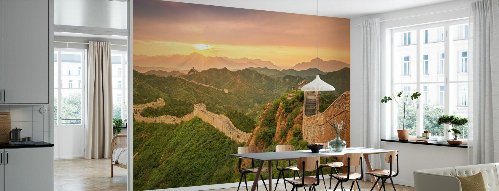 Chinesische Mauer bei Sonnenaufgang - Tapete - Küchen