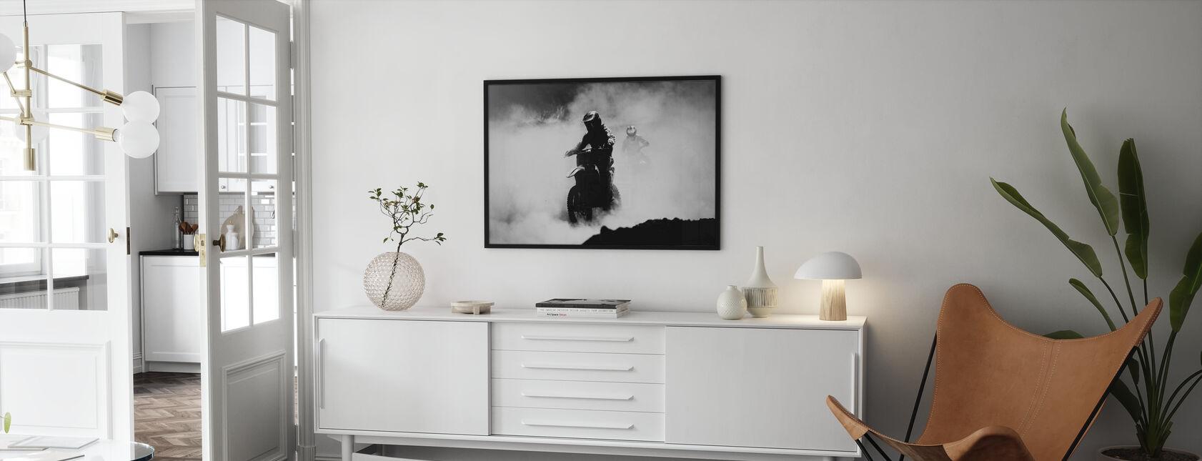 Motocross Racer - Framed print - Living Room