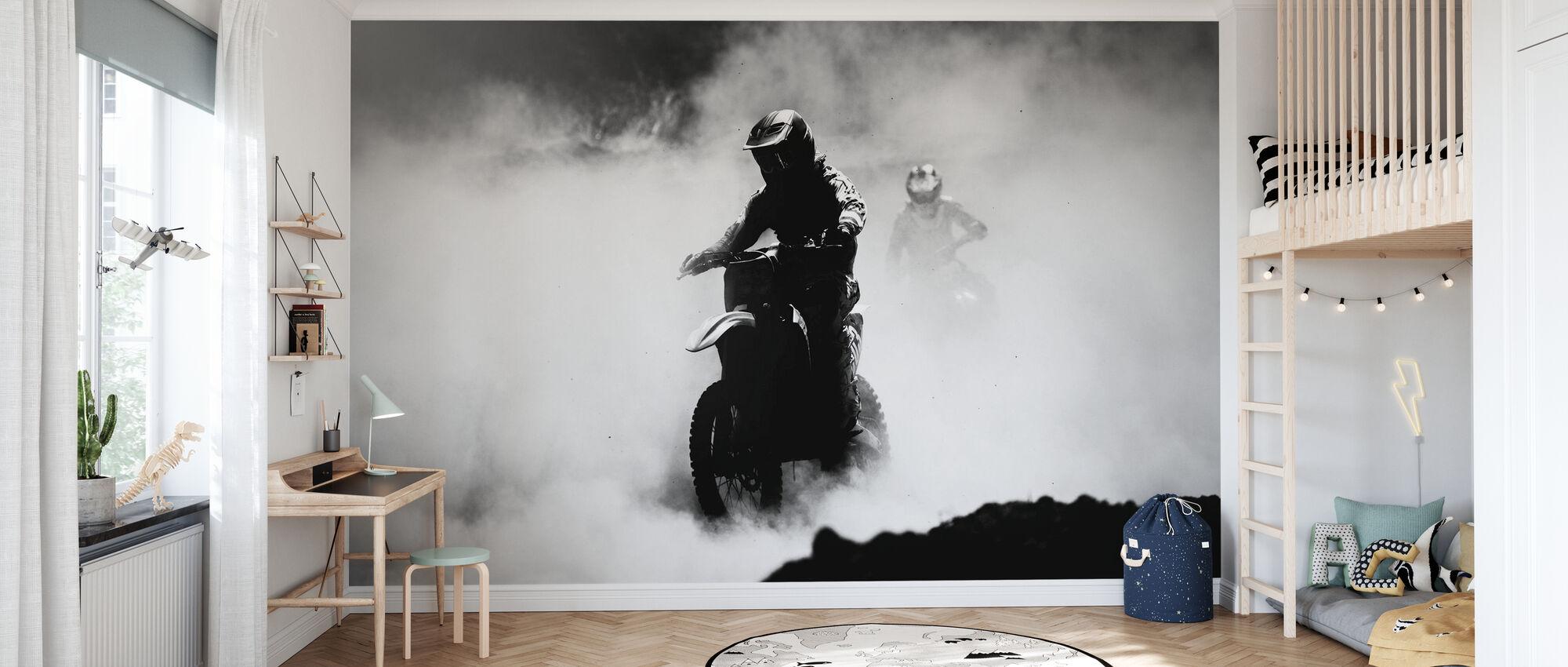 Motocross Racer - Tapetti - Lastenhuone