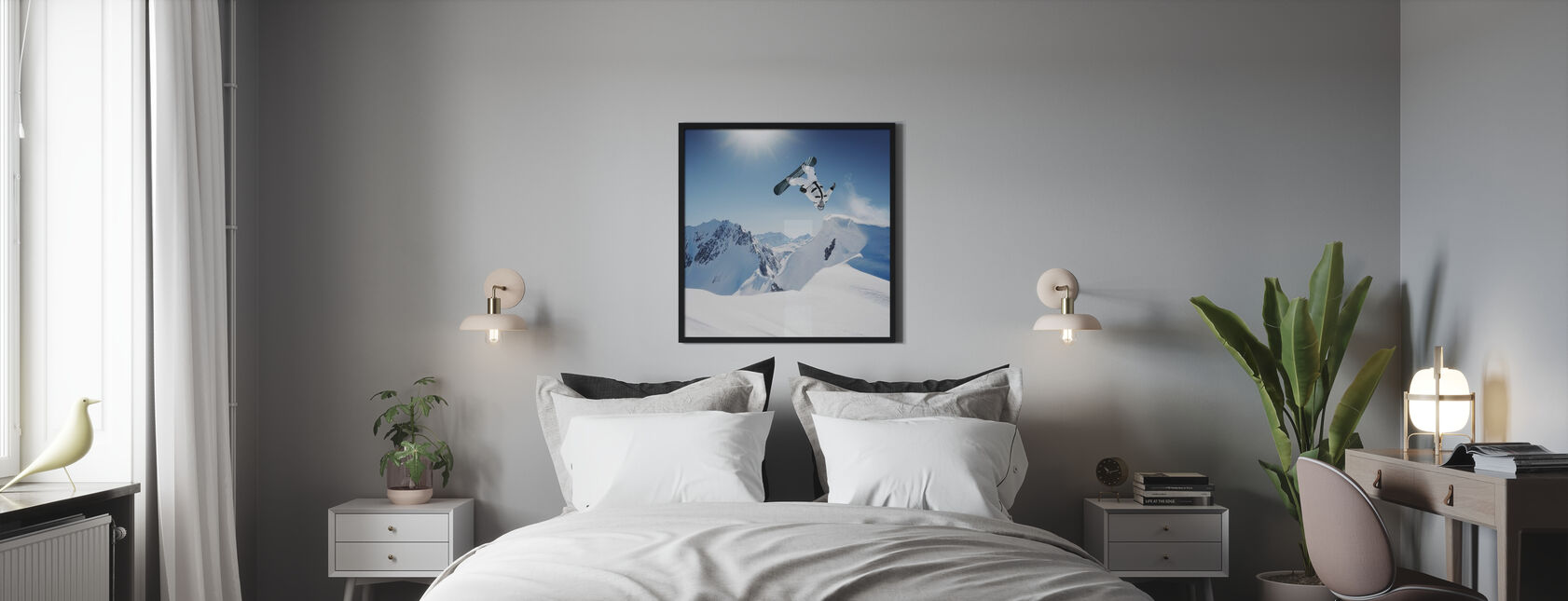 Snowboarder Backflip - Poster - Bedroom