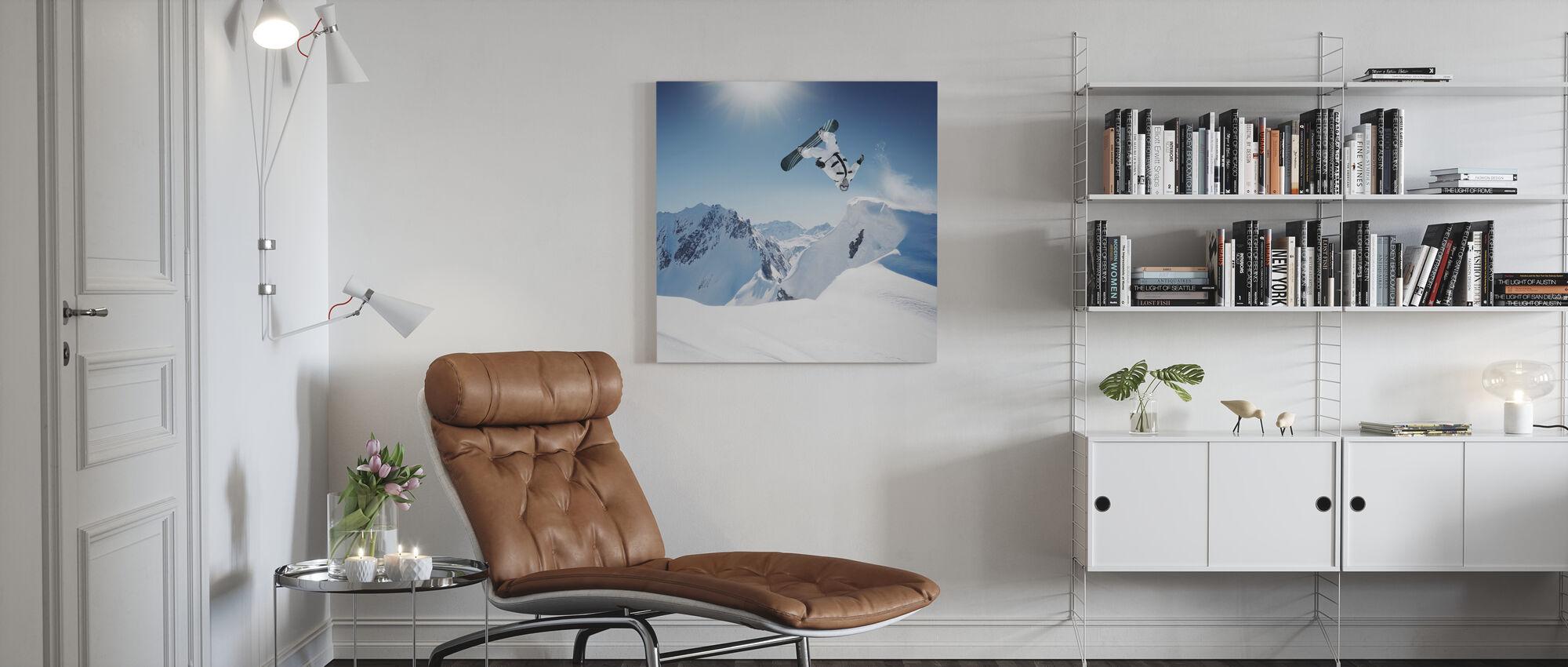 Snowboarder Backflip - Canvas print - Woonkamer