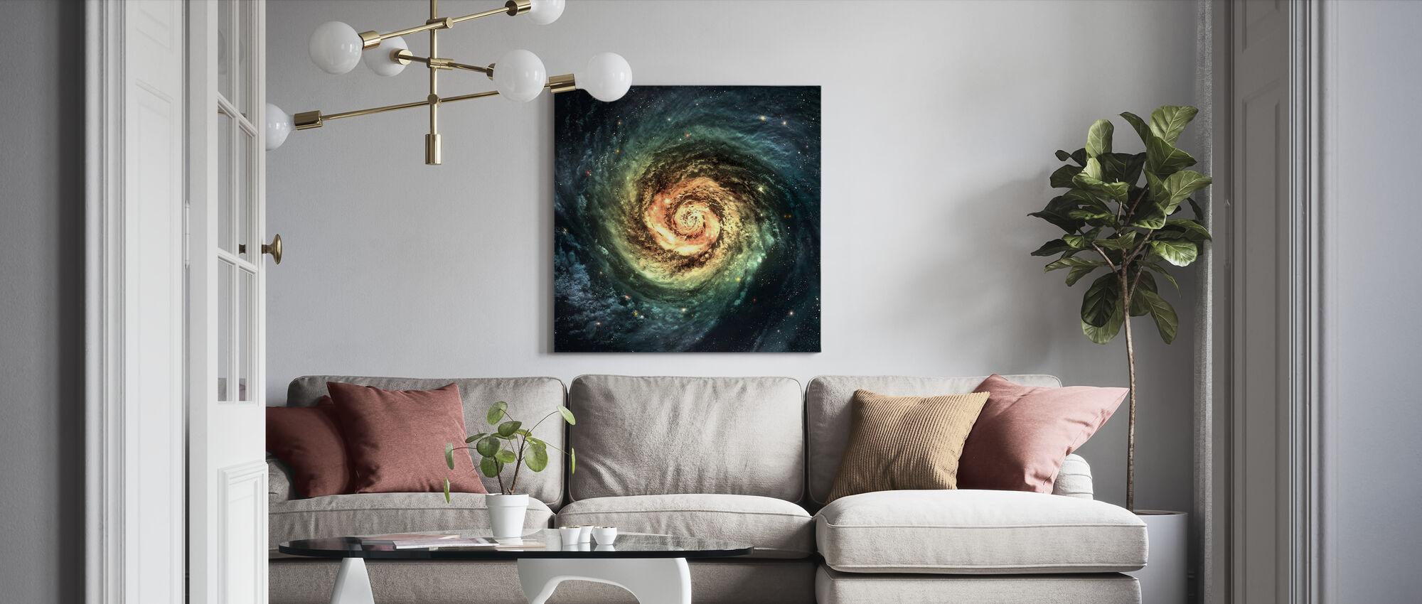 Spiraali Galaxy - Canvastaulu - Olohuone