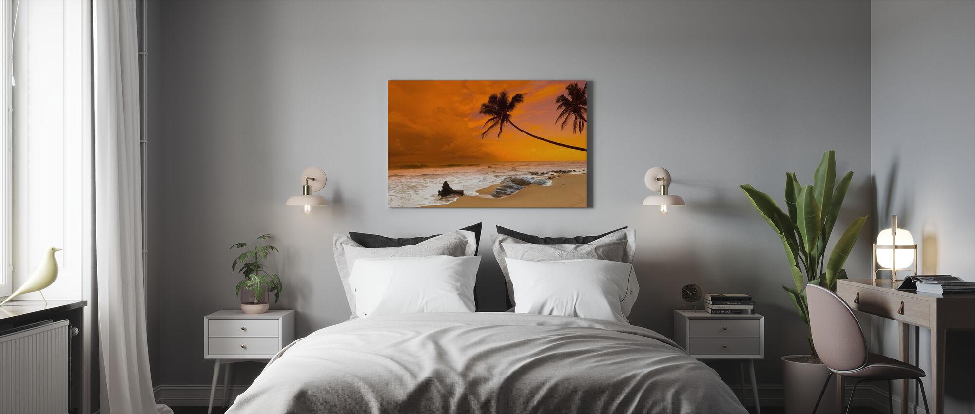Solnedgång över havet - Canvastavla - Sovrum