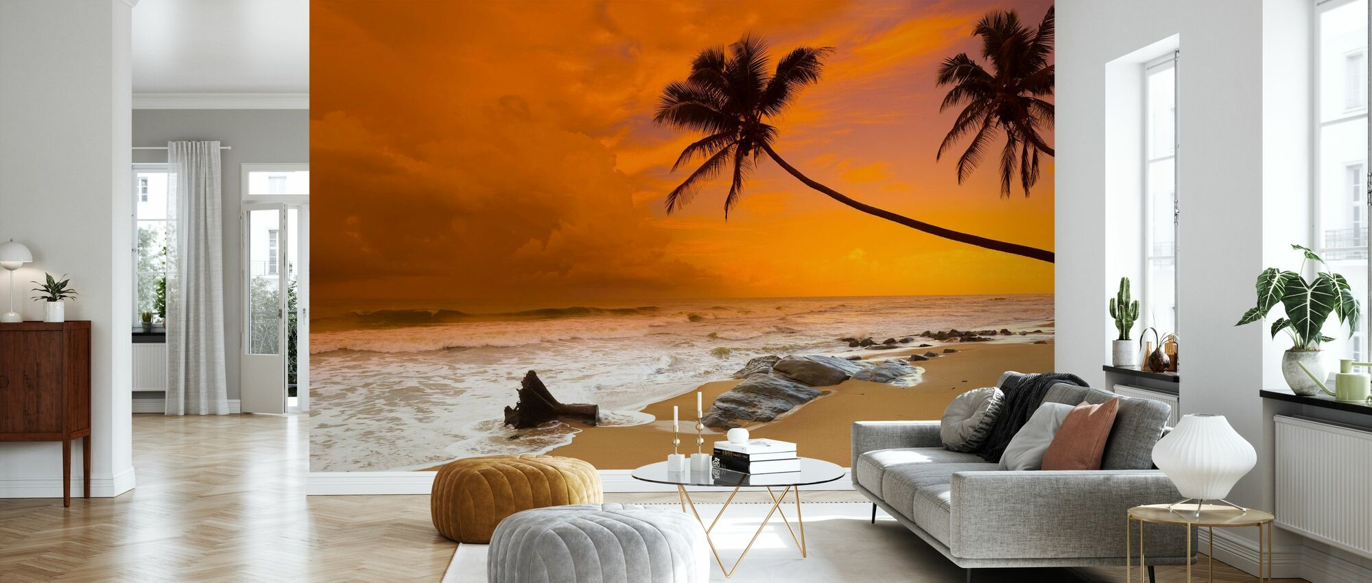 Sunset over the Sea - Wallpaper - Living Room