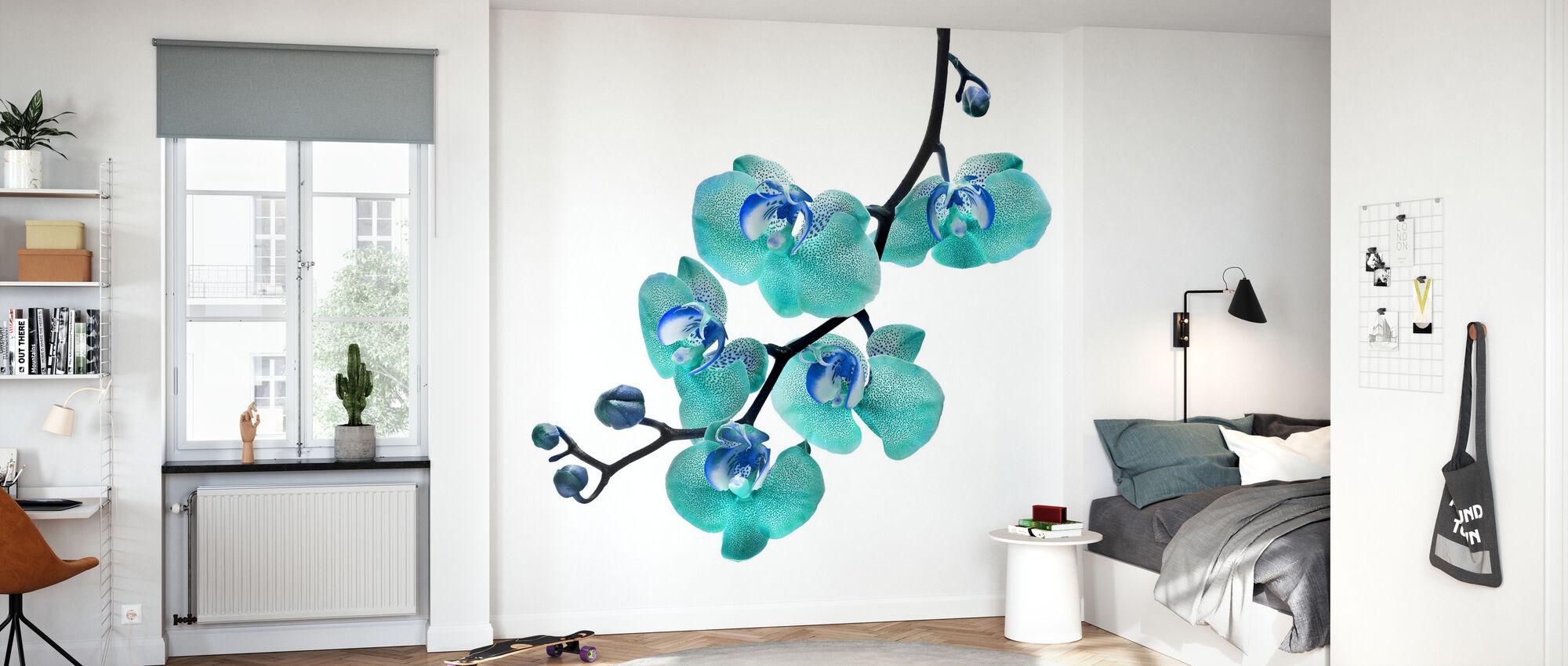 Blå Phalaenopsis Orkide - Tapet - Barnerom