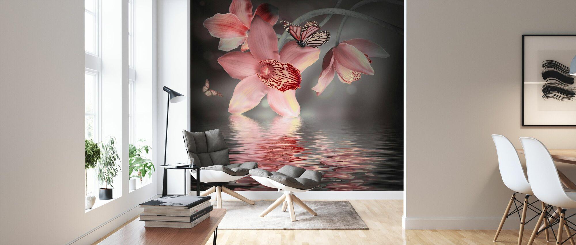 Fjäril Orkidé - Tapet - Vardagsrum