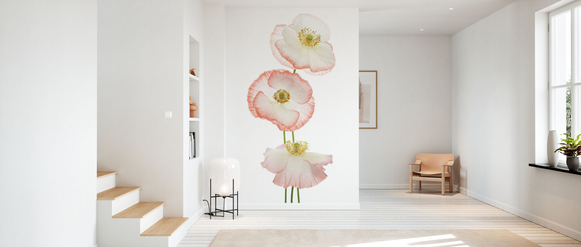 Delicate Poppies - Wallpaper - Hallway