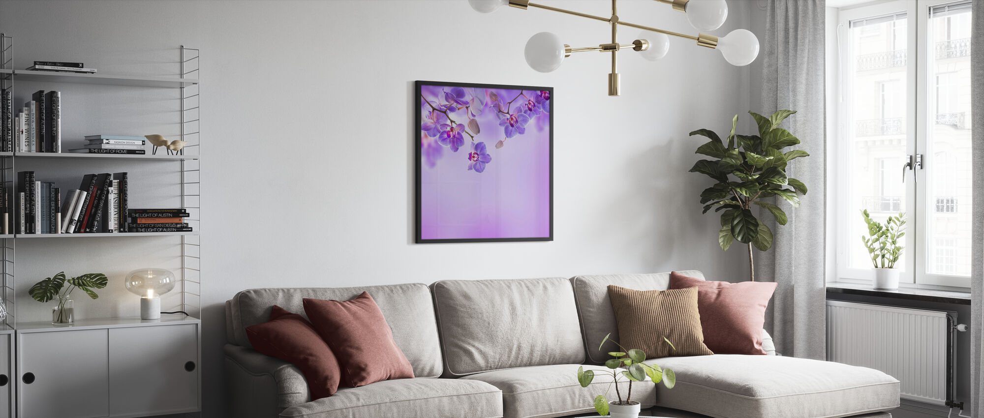 Soft Purple Orchids - Poster - Living Room