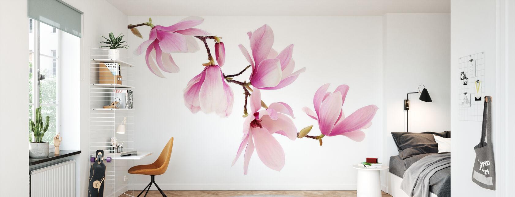 Spring Magnolia - Wallpaper - Kids Room