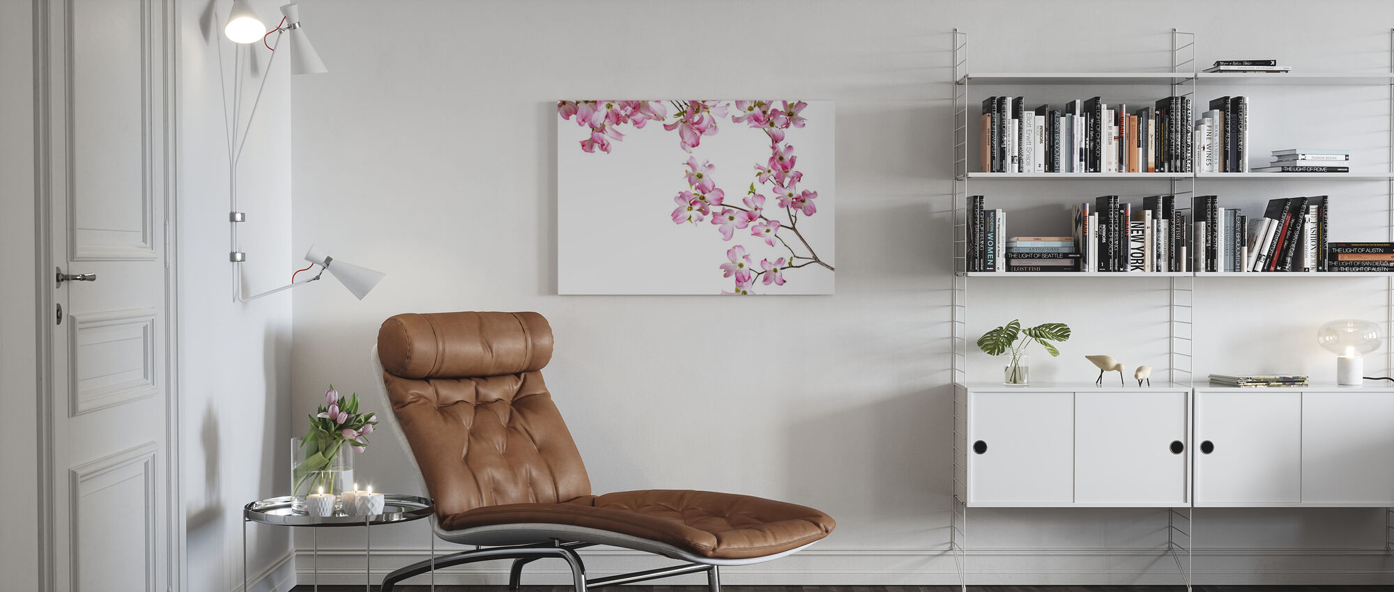 Striped Orchid - Canvas print - Living Room