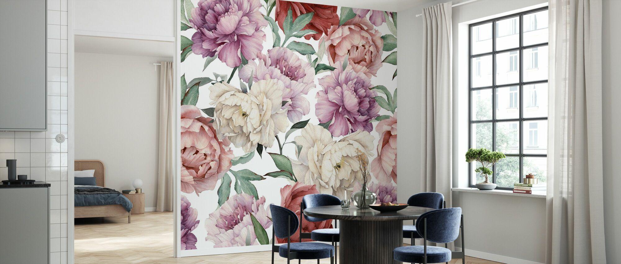 Sweet Peonies - Wallpaper - Kitchen