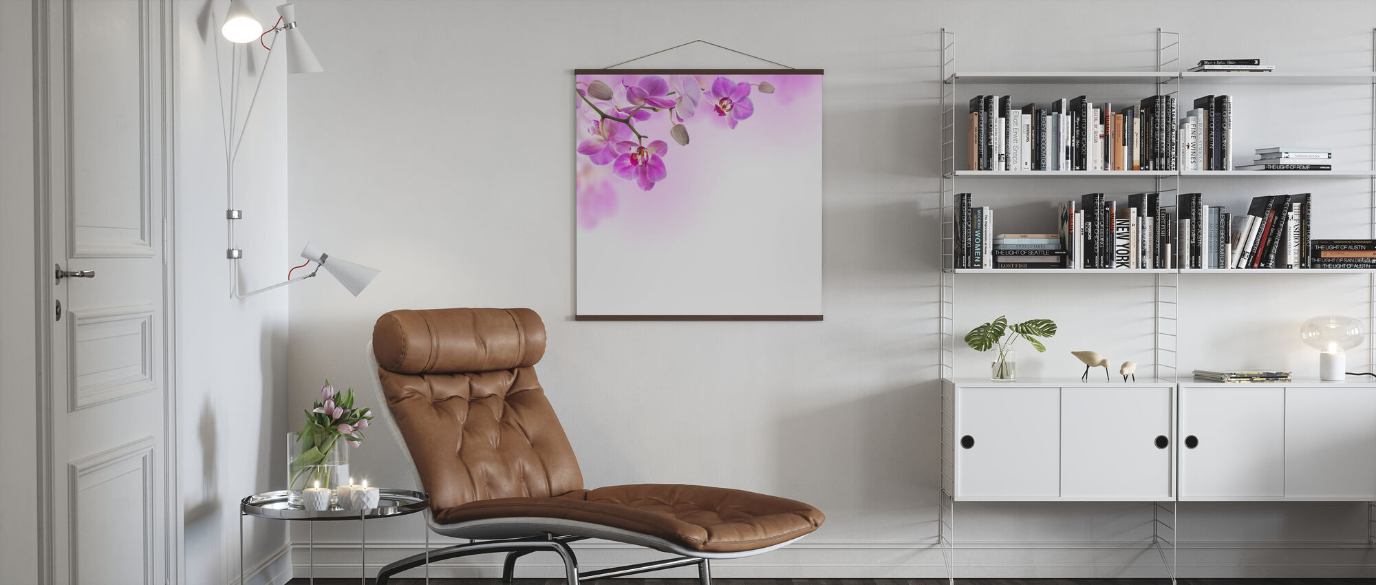 Tropical Fuchsia Orchids - Poster - Living Room