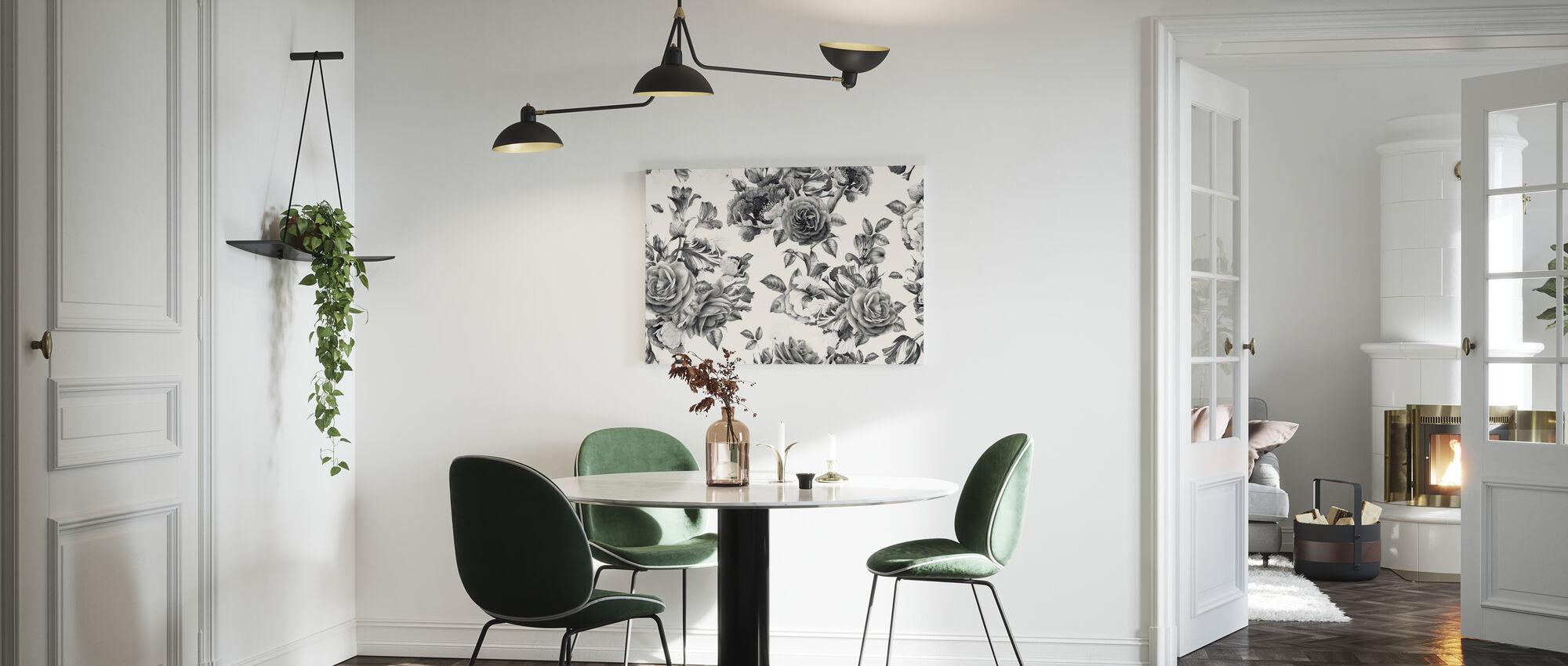 Twilight Roses - Canvas print - Kitchen