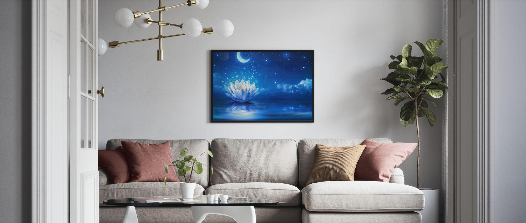 Waterlily Moon - Framed print - Living Room