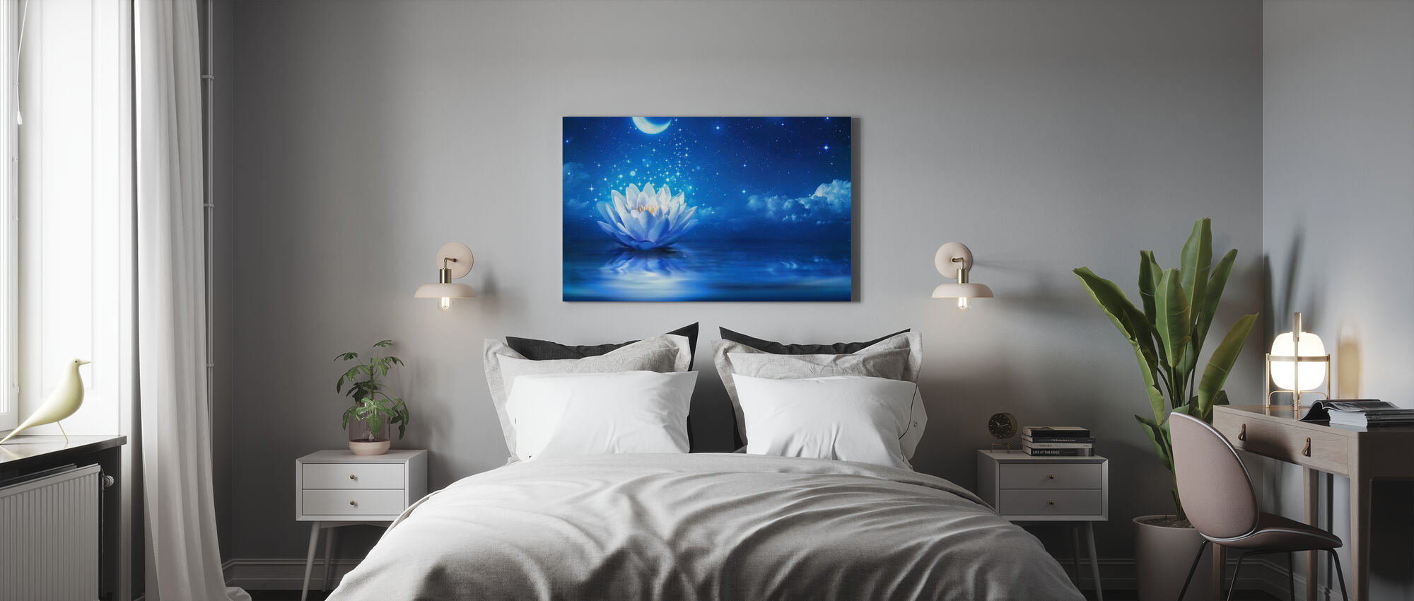 Waterlily Moon - Canvas print - Bedroom