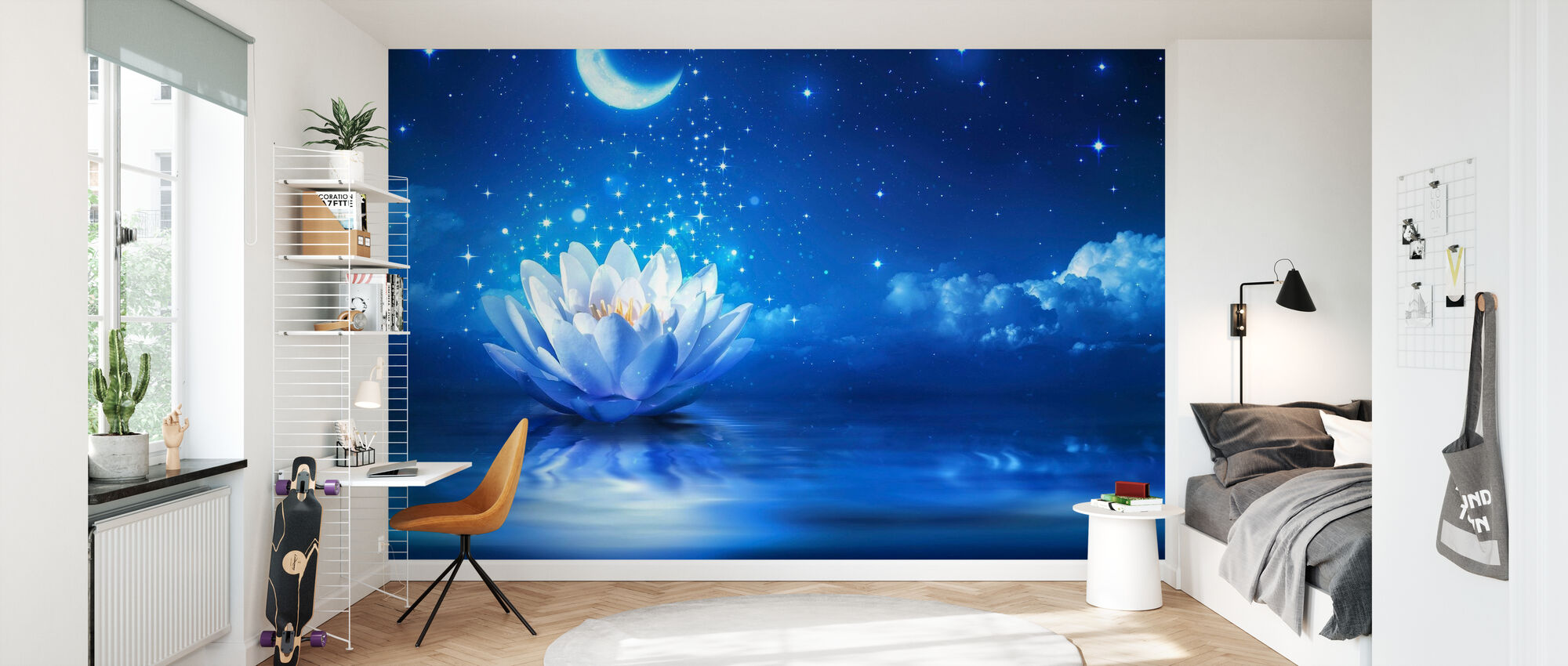 Waterlily Moon - Wallpaper - Kids Room