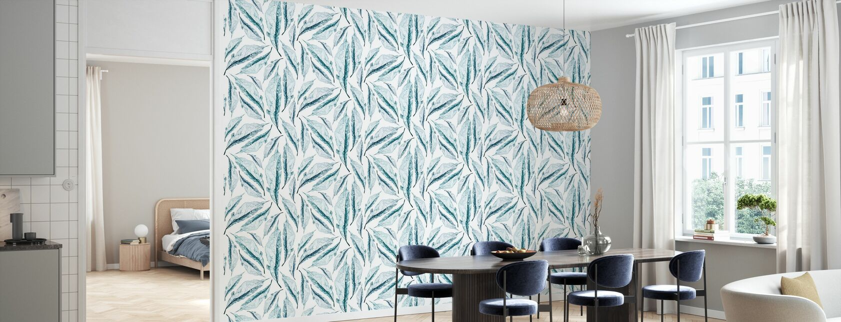 Ash Blue - Wallpaper - Kitchen