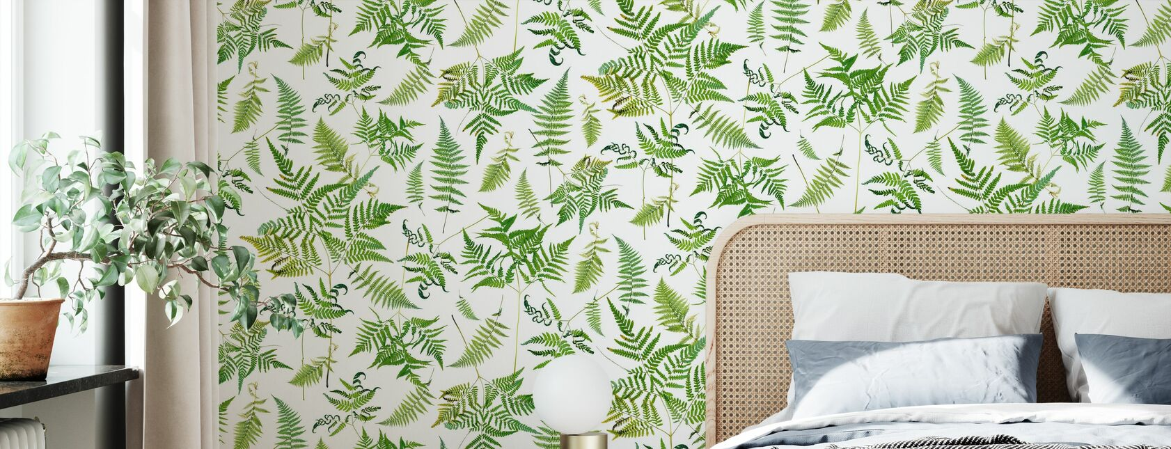 Fern Green - Wallpaper - Bedroom