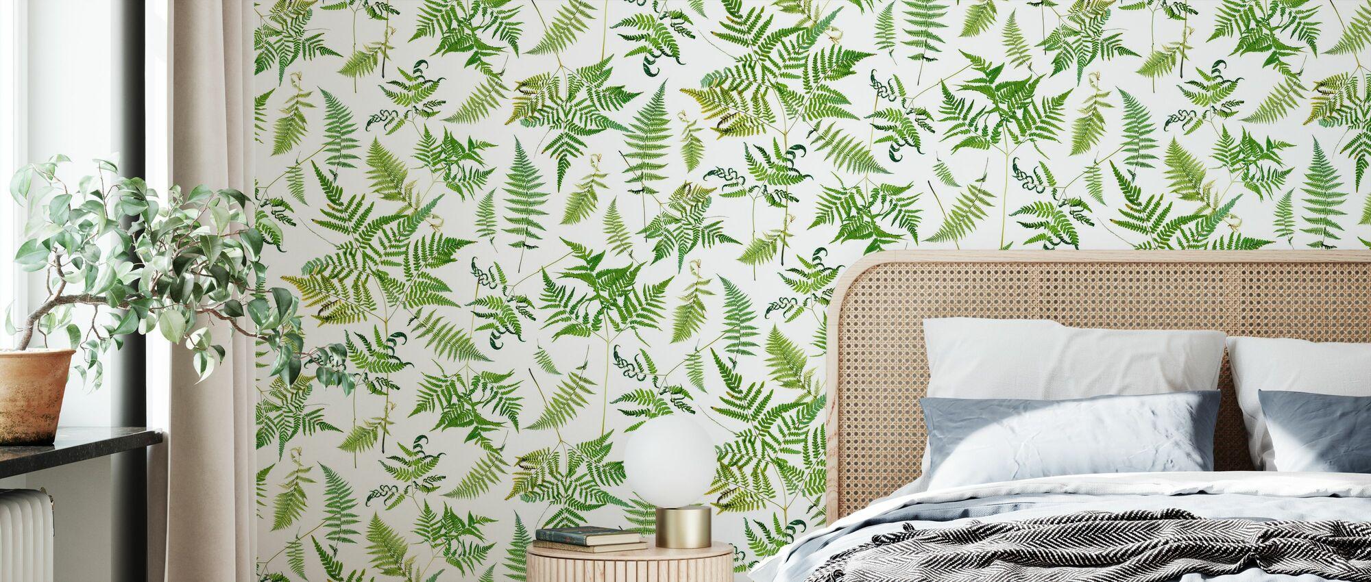 Fern Green - Wallpaper - Bedroom