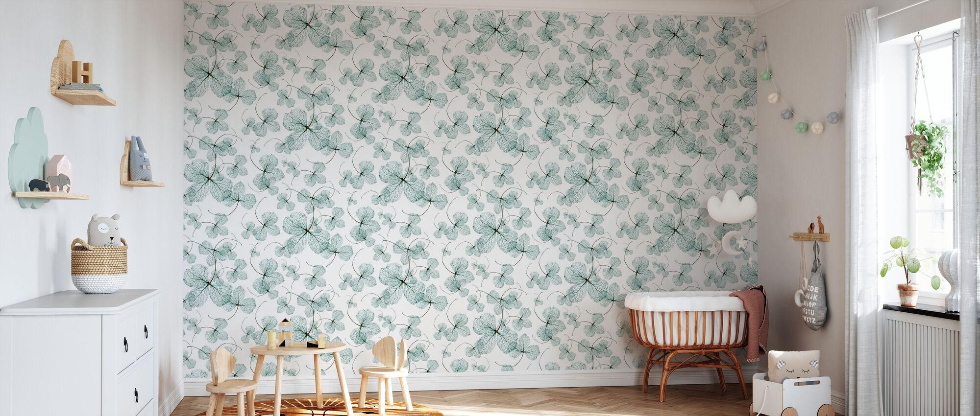Hydrangea Blue - Wallpaper - Nursery