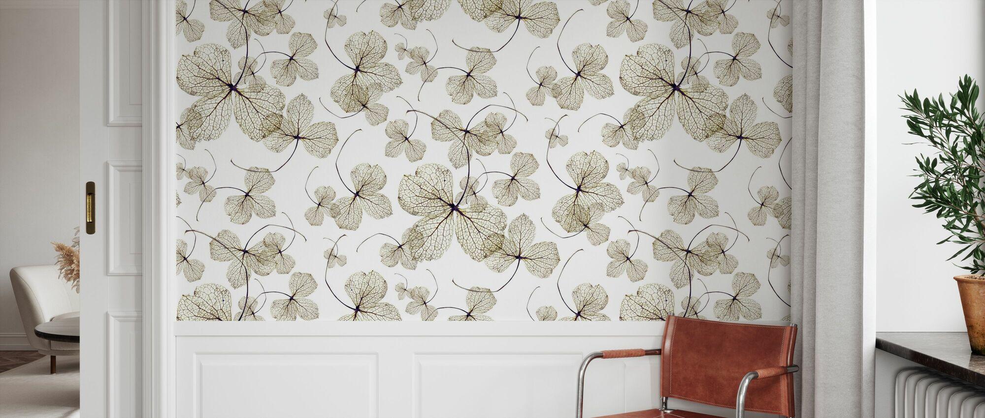 Hydrangea Yellow - Wallpaper - Hallway