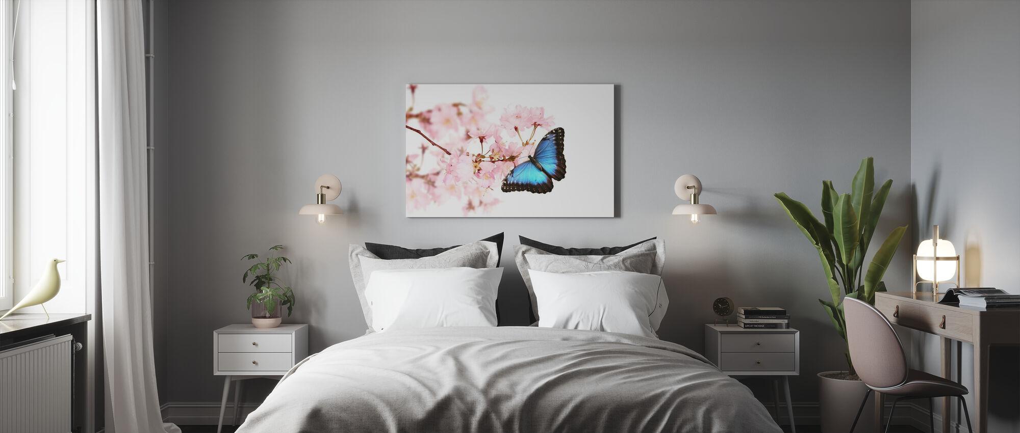 Butterfly Kirsebærblomster - Lerretsbilde - Soverom