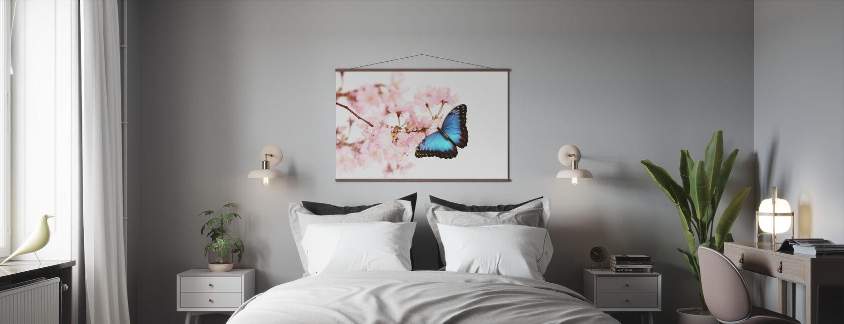 Butterfly Kirsebærblomster - Plakat - Soverom
