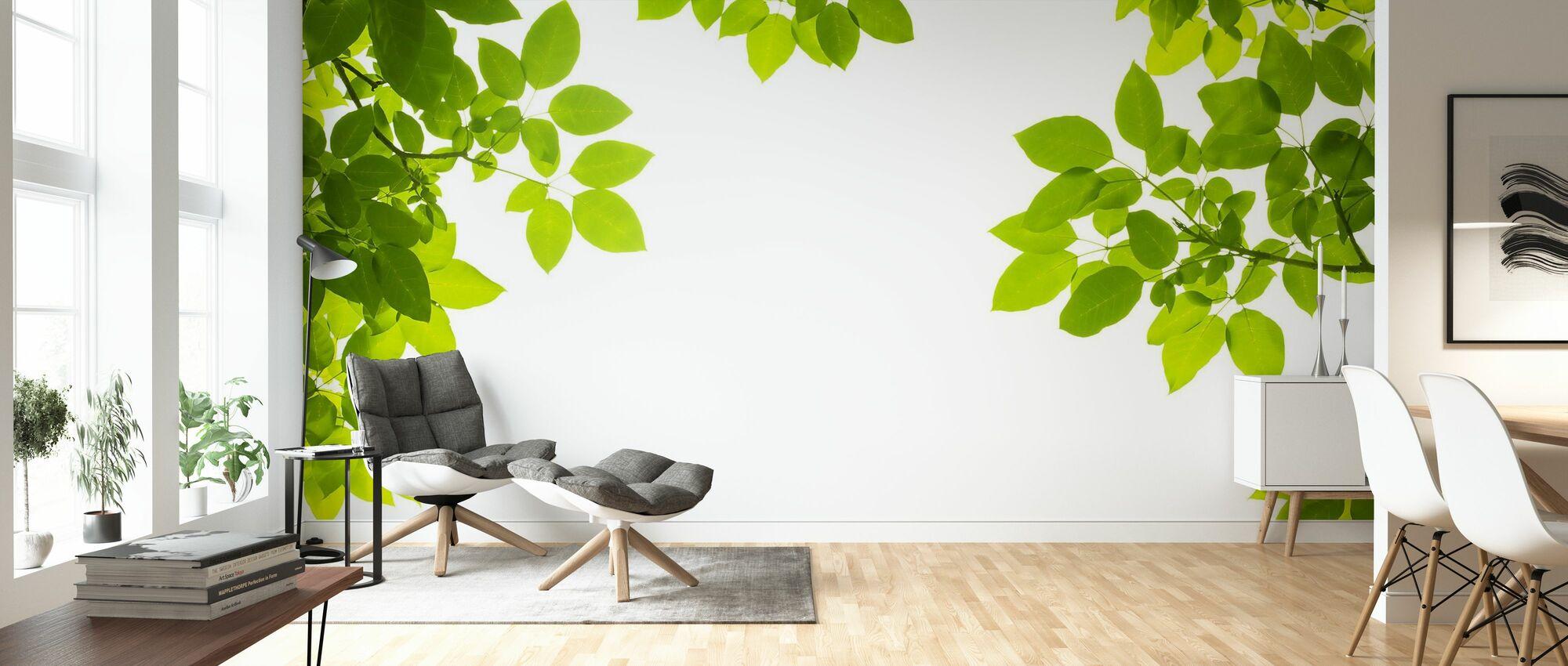 Decke aus frischen Blättern - Tapete - Wohnzimmer