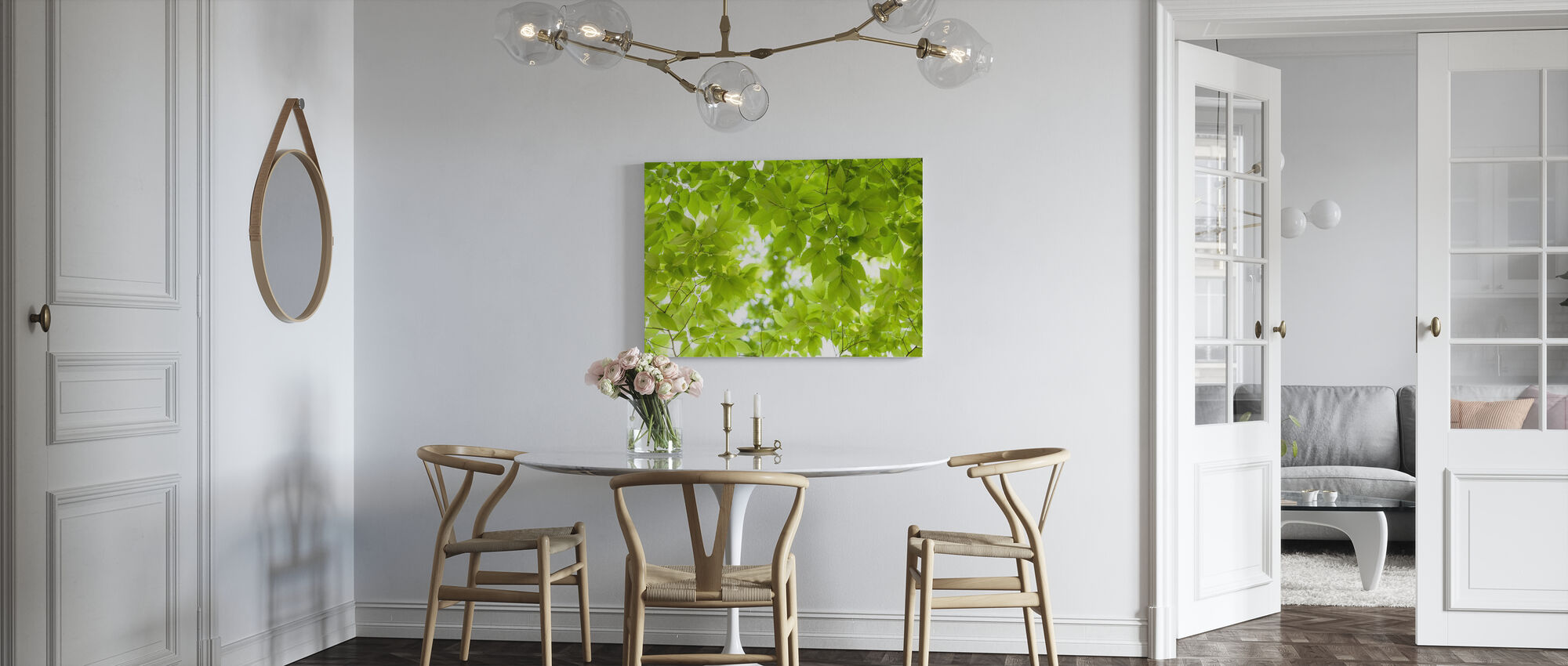 Green Leaves Background - Canvas print - Kitchen
